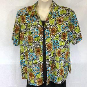 Kim Rogers short sleeve print shirt